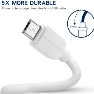 usb micro cable 6ft white